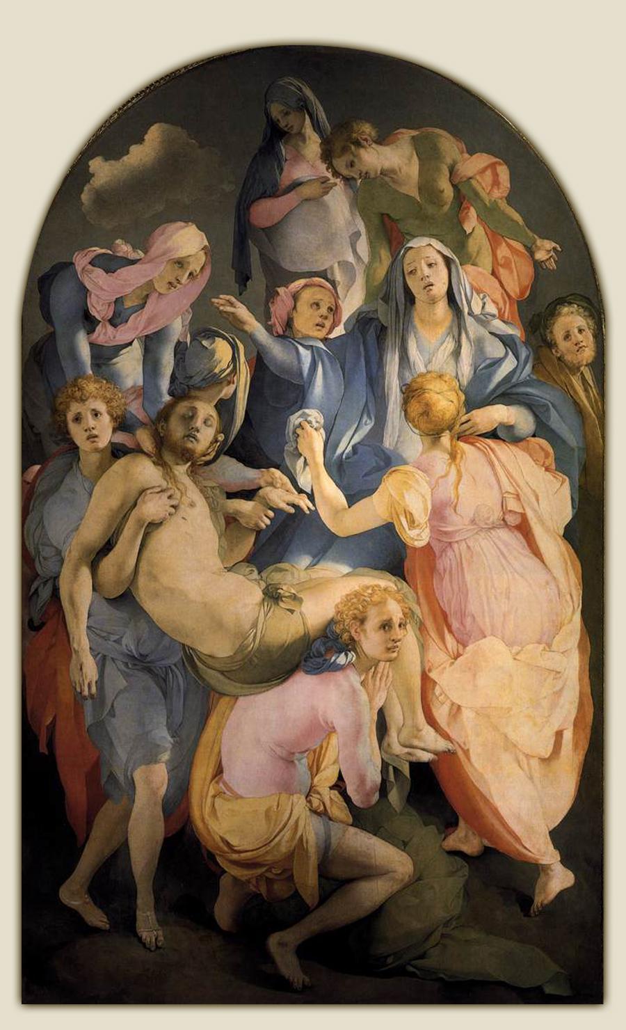 Jacopo Pontormo, Trasporto di Cristo, Firenze, Santa Felicita