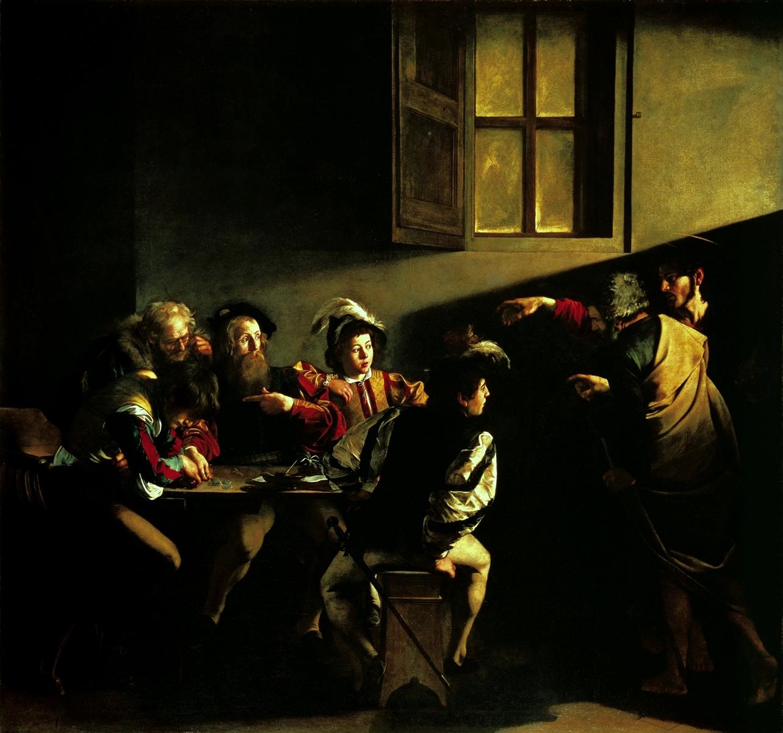 Caravaggio, La Vocazione di San Matteo, Roma, San Luigi dei Francesi