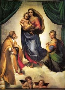 Raffello, Madonna Sistina, Dresda, Gemaldegalerie