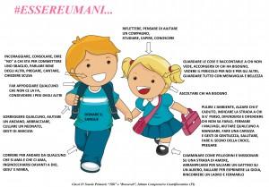 """""""Il corpo è umano perché ama"""" dalla 4A, 4B, 4C, 4D scuola primaria """"M. Tilli"""" e 4A scuola primaria """"Rooselvelt"""" dell'IC di Castelfiorentino (Fi)"""