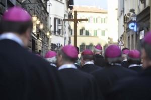 FIRENZE 9 novembre 2015. Processione da S.Maria Novella per l'inizio del Convegno Ecclesiale Nazionale Firenze 2015.