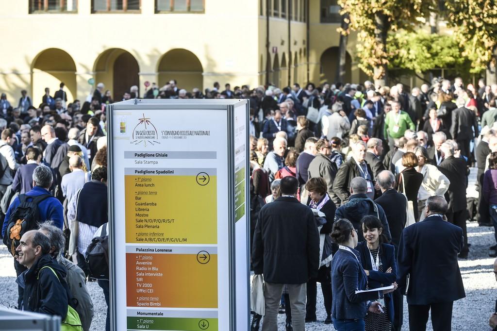 Firenze 12-11-2015 Partecipanti e lavori  in occasione del Convegno Ecclesiale della Conferenza Episcopale Italiana. Ph: Cristian Gennari/Siciliani